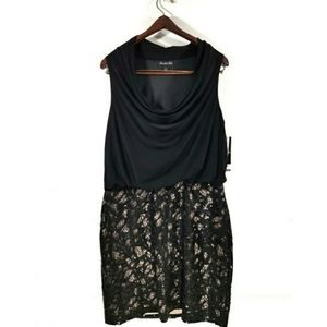 Scarlett Nite Cowl Neck Sequined Dress NWT Size 12